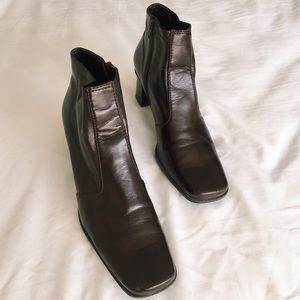 Franco Sarto Square Toe Leather Boot
